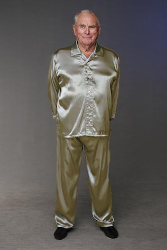Men's Satin Pyjamas   Long sleeve   Easywear Australia