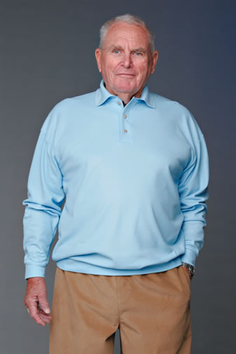 Mens Long Sleeved Banded Polo Shirt